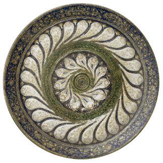 Assiette En Porcelaine Plat marocain vintage de porcelaine de conception