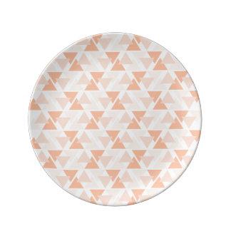 Assiette En Porcelaine Plat orange en pastel de porcelaine de motif de