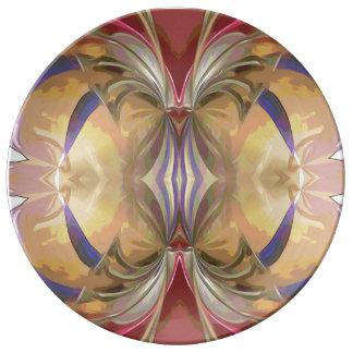 Assiette En Porcelaine Plat porcelian de rubans royaux