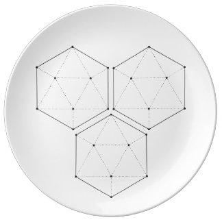 Assiette En Porcelaine Plat sacré de la géométrie 4