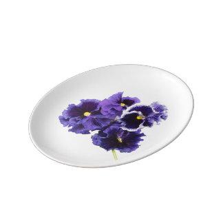 Assiette En Porcelaine Plat simple de pensée