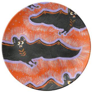 Assiette En Porcelaine Plat timbré de porcelaine de Halloween de vol