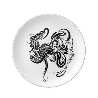 Assiette En Porcelaine Poulet