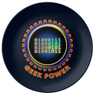 Assiette En Porcelaine Puissance de geek