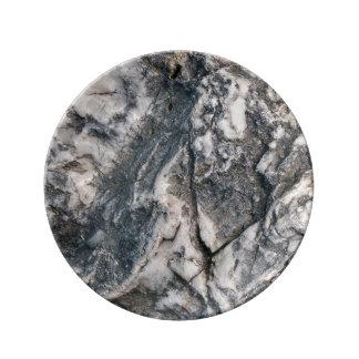 Assiette En Porcelaine Roche (2) plat de porcelaine
