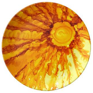 Assiette En Porcelaine T est pour le plat de concepteur de mandarine