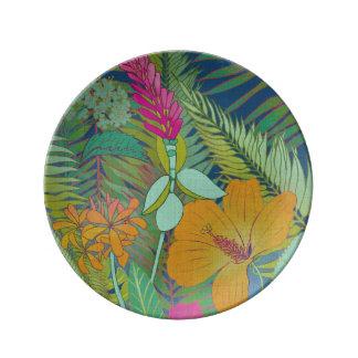 Assiette En Porcelaine Tapisserie tropicale II