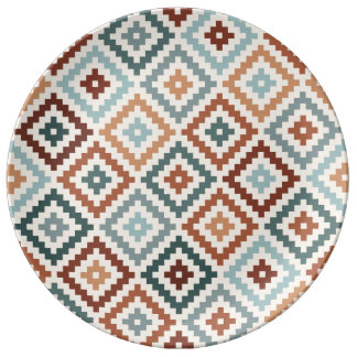 Assiette En Porcelaine Terres cuites aztèques de Crm de sarcelles d'hiver