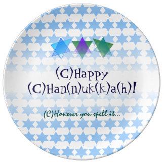 Assiette En Porcelaine Toutes les manières d'orthographier Hanoukka