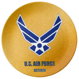 Assiette En Porcelaine U.S. Plat de porcelaine retiré parArmée de l'Air