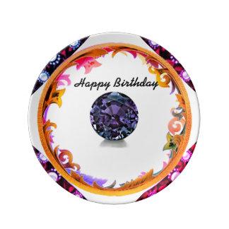 Assiette En Porcelaine Un anniversaire d'Alexandrite