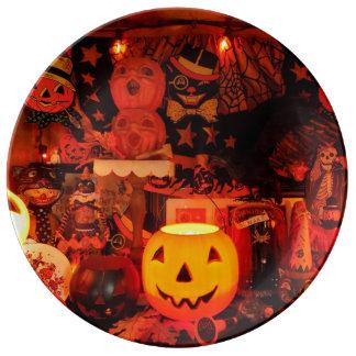 Assiette En Porcelaine Un plat vintage de porcelaine de Halloween