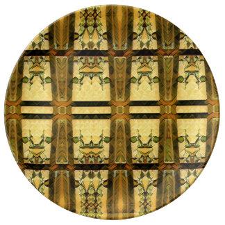 Assiette En Porcelaine verre de chapelle en or d'un plat