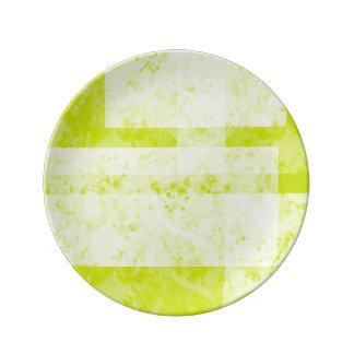 Assiette En Porcelaine vert