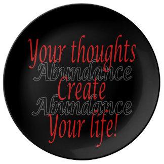 Assiette En Porcelaine Vos pensées créent votre vie