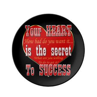 Assiette En Porcelaine Votre coeur est le secret au succès