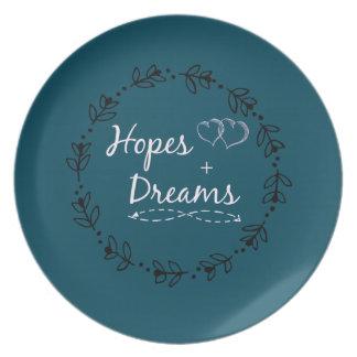 Assiette Espoir+tasse rêveuse