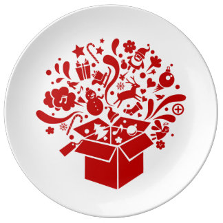Assiette esprit fête Noël