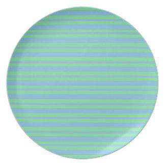 Assiette Filet vert et bleu