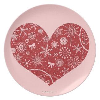 Assiette Flocons de neige au coeur