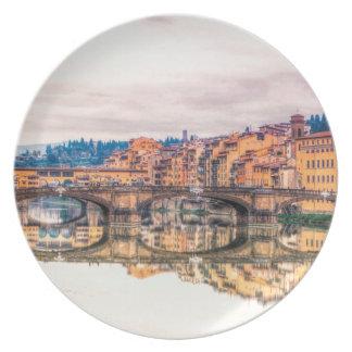 Assiette Florence Ponte Vecchio