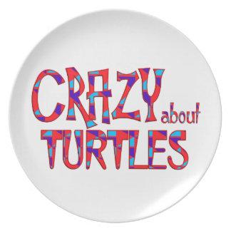 Assiette Fou au sujet des tortues