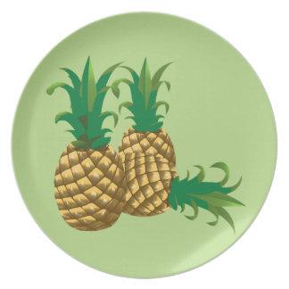 Assiette fruit de trois ananas