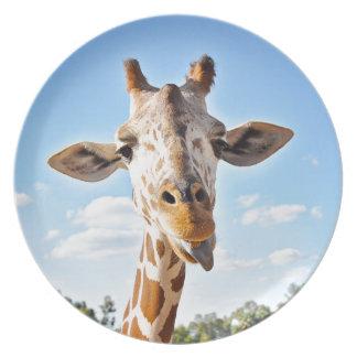 Assiette Girafe idiote