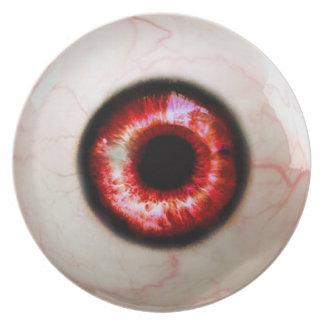 Assiette Globe oculaire éffrayant