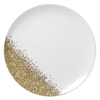 Assiette Golden glitter