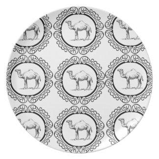 Assiette Groupe de chameau