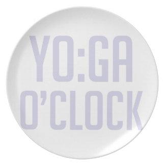 Assiette Heure de yoga