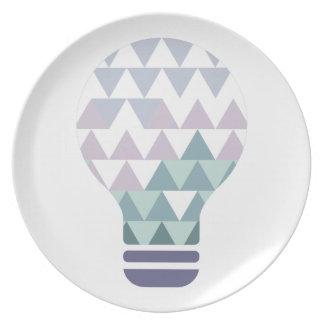Assiette Hexahedrons à l'intérieur de pâte de conception