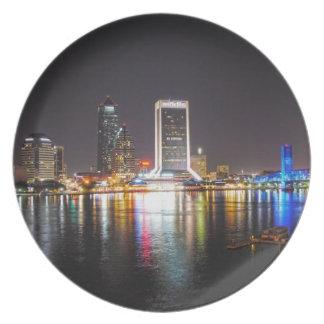 Assiette Horizon de nuit de Jacksonville