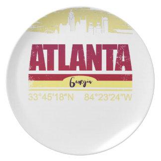 Assiette Horizon grunge d'Atlanta la Géorgie