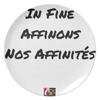 Assiette IN FINE, AFFINONS NOS AFFINITÉS - Jeux de mots