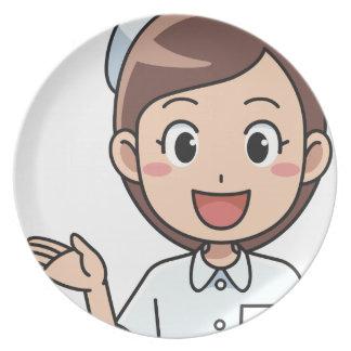 Assiette Infirmière heureuse