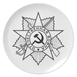 Assiette Insignes communistes marteau et faucille