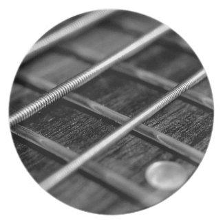 Assiette Instrument de bruit de roche de musique de guitare