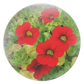 Assiette Jardin de pays floral