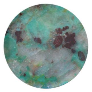 Assiette Jaspe bleu de Chrysocolla