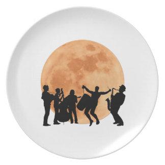 Assiette Jazz de clair de lune