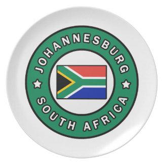 Assiette Johannesburg Afrique du Sud