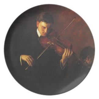 Assiette Joueur de violon