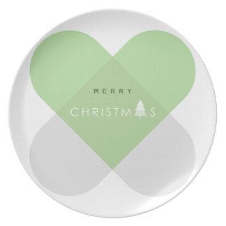 Assiette Joyeux Noël - vert