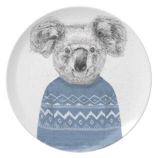 Assiette Koala d'hiver