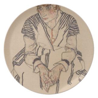 Assiette La belle-soeur de l'artiste d'Egon Schiele-