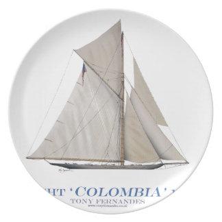 Assiette La Colombie 1899