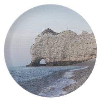 Assiette La côte aux falaises d'Aval d'Etretat