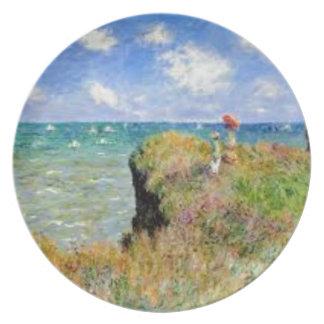 Assiette La falaise de Pourville de Claude Monet